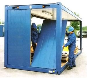 монтаж контейнера