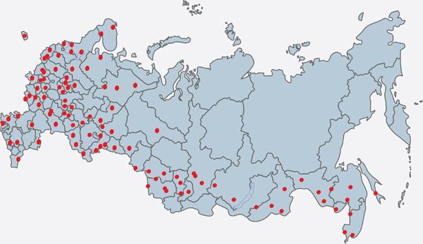 Карта поставок ИНРУСКОМ